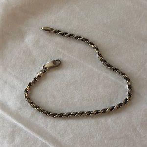 Silver rope anklet or bracelet